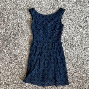 Blue lace mini dress. Size 1